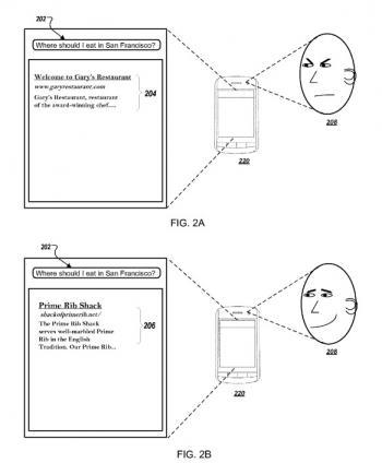 Пример биометрической реакции пользователя на результат выдачи